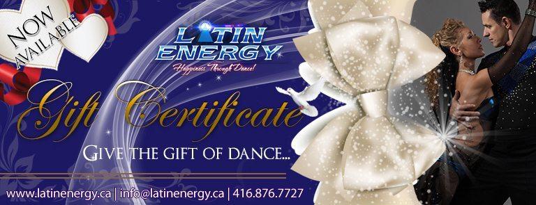 Dance Gift Certificate Card   Salsa Bachata Tango Kizomba Lessons