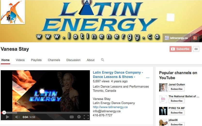 Toronto most popular Latin Dance YouTube channel