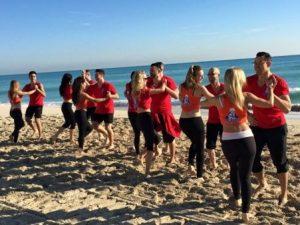 fun salsa dancing on the beach