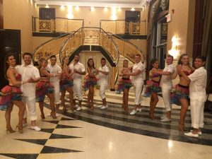 Large couples dance team shows