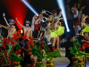 salsa show performed pan am games