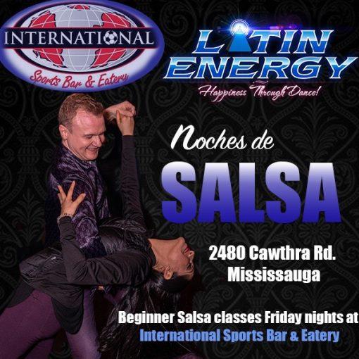 salsa beginner 5 week dance course Latin Energy Mississauga SportsBar